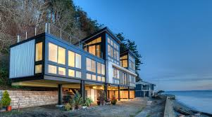 northwest modern home architecture. Resilient Waterfront House Can Stand Up To Mudslides| EcoBuilding Pulse Magazine | Design, Green Building, Design Northwest Modern Home Architecture
