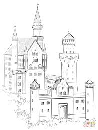Neuschwanstein Castle Coloring Page From Germany