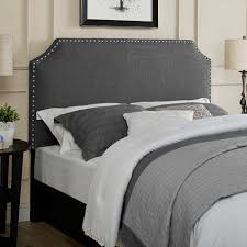 gray full headboard. Beautiful Headboard Dorel Linen Headboard With Nailhead Trim Gray Headboards Full S