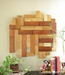 diy modern wood wall hanging diy wood wallart modern recycle