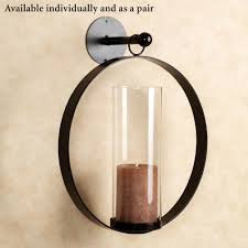 hanging circle wall sconce black touch to zoom