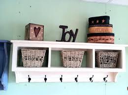 charming wall shelf with baskets wall storage baskets and hooks charming wall shelf with baskets