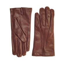 men s cognac cashmere lined nappa leather gloves