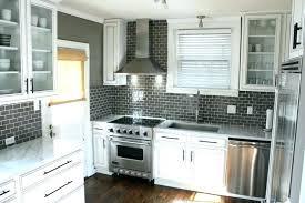 glass subway tile backsplash ideas grey pleasant with warm gray walls paint color glass subway tiles