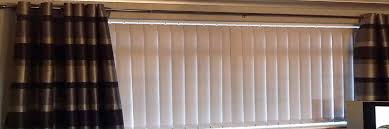 vertical blinds hardware with curtains