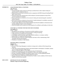 Resume Writing For Engineering Students Electrical Engineering Resume Site Engineer Samples Velvet