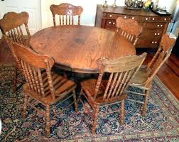 antique round oak table solid wood dining table and chairs oak kitchen extending antique light vintage antique round oak table