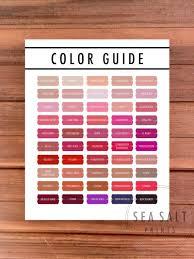 Updated 2018 Lipsense Color Guide Lipsense Color Chart 2018 Lipsense Color Display Lipsense Color Guide Lipsense Party Decor Lipsense