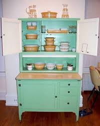Hoosier Kitchen Cabinet Kitchen Hoosier Cabinet Mint Green Color Hoosier Cabinet