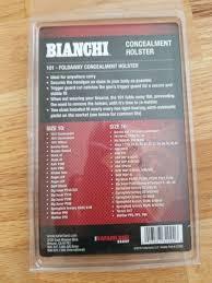 Bianchi 27202101 Foldaway Holster Black Sz 10 And 16
