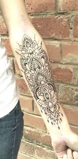 Geometrische Mandala Unterarm Tattoo Ideen Für Frauen Spitze
