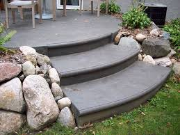 stamped concrete patio with stairs. Wonderful Patio Colored Stamped Driveway With Border Fractured Earth Textured Patio And  Bullnose Steps Gray On In Stamped Concrete Patio With Stairs