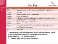 Diet Chart For Heart And Diabetic Patients Diet Plan For Heart Patient