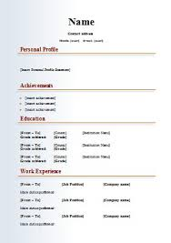 Resume Format Word File Download Lovely Cvs Samples Free Yeniscale