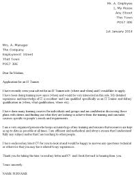it trainer cover letter example cover letter what is it