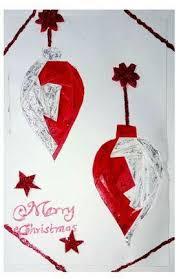 Dwh Handmade Iris Folded Baubles Christmas Greeting Card
