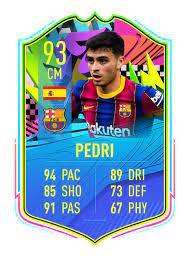 Pedri Summer Stars card I made. Hope u like it!: Fifa21