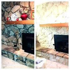 painting rock fireplaces stone fireplace white painted can you paint best