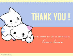 Cute Template Cute Christening Thank You Card Template Postermywall