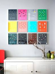 colorful wall art ideas