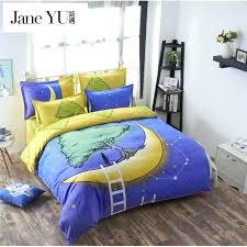 janeyu soft cotton bedding sets kids bedspreads cartoon bedclothes duvet cover set bed sheets king queen