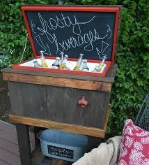 reclaimed wood chalkboard ice chest