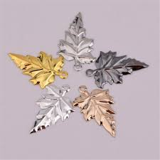 2021 metal leaves silver gold black