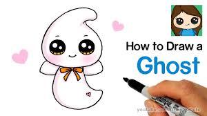 how to draw a cute ghost easy beanie boos