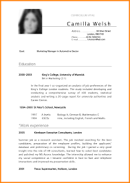 8 Cv Example In English Cashier Resumes Of A Photo Cover Letter
