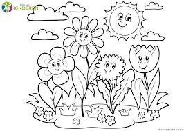 Kleurplaten Met Bloemen Fris De Vlinders En De Bloemen Kleurplaat