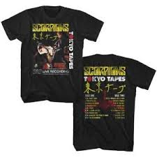 Details About Scorpions Tokyo Tapes 2 Sided Lp Live Recording Adult T Shirt Heavy Metal Music