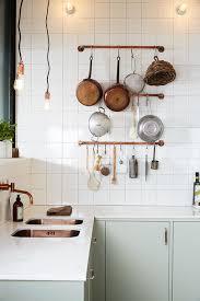 diy idea make a rustic copper pipe pot rack