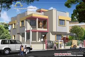 duplex house plan and elevation 215 sq m 2310 sq ft