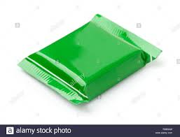 Plastic Packet Design Green Food Packet Design Stock Photos Green Food Packet