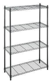 metal wire shelving unit impressive black metal wire shelving commercial 4 tier shelf wire metal metal