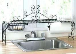 kitchen sink dish rack over the sink dish drainer kitchen over the sink shelf organizer in