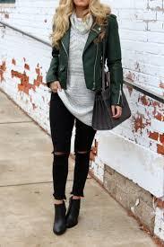 nordstrom blanknyc leather jacket black ripped jeans black booties