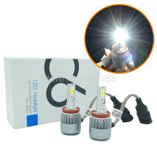 Wagner Lighting D1s 2 72w 7600lm Cob H8 H9 H11 Led Headlights H7 9005 Hb3 Hb4