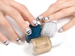 How-To: Shimmer & Stripes Nail Art Manicure