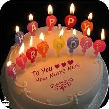write name on birthday cake por apps