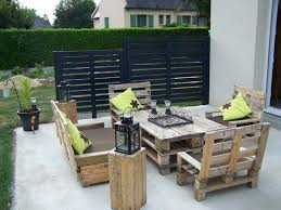 wood skid furniture. #19 Complete Patio Furniture Set Made From Wooden Pallets Wood Skid E