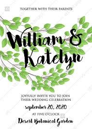 Wedding Invitation Set Templates Greenery Wreath Wedding Invitation Set Eucalyptus Branch Green