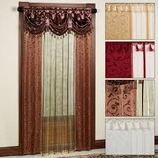 fresh ideas curtains with valance attached crafty inspiration tango sheer curtain panel