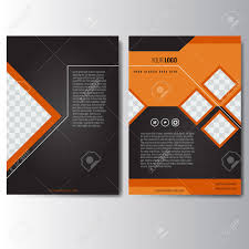 creative orange and black annual report leaflet brochure flyer template a4 size design book cover