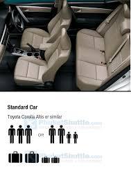 seats 3 passengers luggage