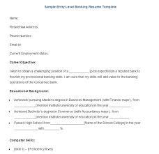 Entry Level Banking Resumes 18 Best Banking Sample Resume Templates Wisestep