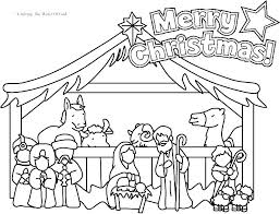 Manger Scene Coloring Pages Simple Nativity Coloring Pages Coloring