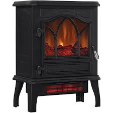 electric infrared quartz stove heater fireplace chimney free with door 5200 btu 1 of 8free