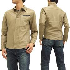 grady eight faux leather shirt jacket 453530 gladiate mens jkt