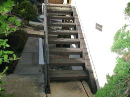 portable staircase excellent outdoor wood steps prefab stairs building without stringers exterior wooden